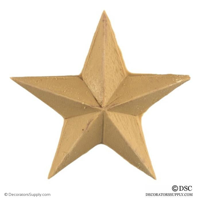 Star - Roman - 2 1/2 Wide - 1/4Relief-ornaments-woodwork-furniture-Decorators Supply