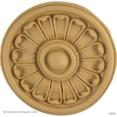 Rosette - Circle-Greek - 2 1/2Diameter - 1/4Relief-woodwork-furniture-ornaments-Decorators Supply