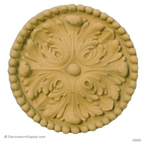 Rosette - Circle-Empire - 2 7/8Diameter - 3/8Relief-woodwork-furniture-ornaments-Decorators Supply