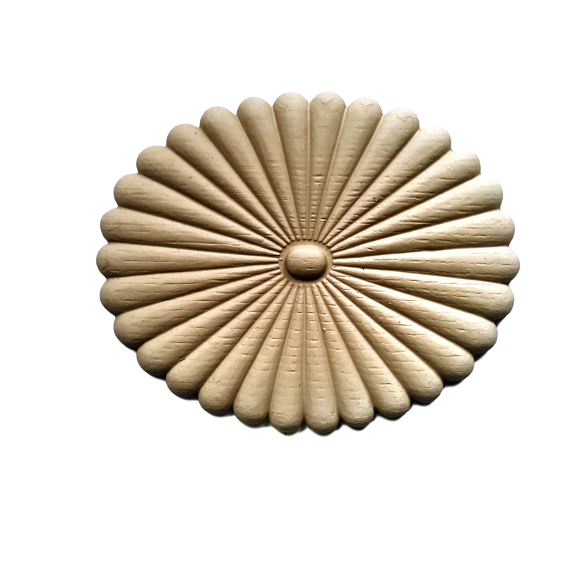 Rosette - Oval-Colonial 9H X 7  1/4W - 1/2Relief