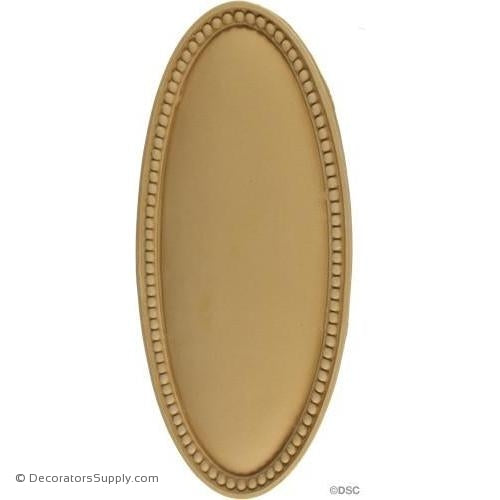 Rosette - Oval-Colonial 11  3/4H X 5  1/8W - 1/2Relief