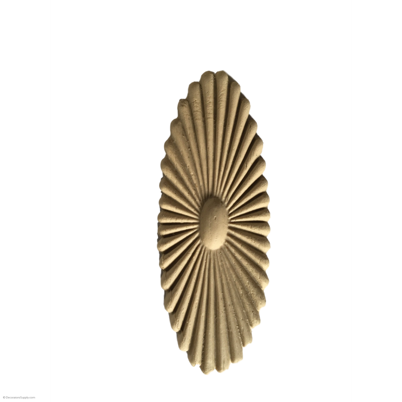 Rosette - Oval-Colonial 5  3/16H X 1 15/16W - 1/4Relief