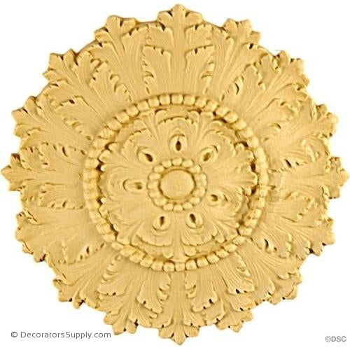 Rosette - Circle-Empire - 7Diameter - 3/8Relief-woodwork-furniture-ornaments-Decorators Supply