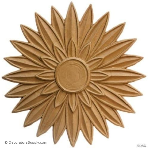 Rosette - Circle-Egyptain - 6 1/2Diameter - 1/8Relief-woodwork-furniture-ornaments-Decorators Supply