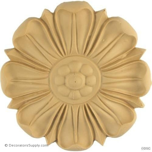 Rosette - Circle-Greek - 5 1/2Diameter - 9/16Relief-woodwork-furniture-ornaments-Decorators Supply