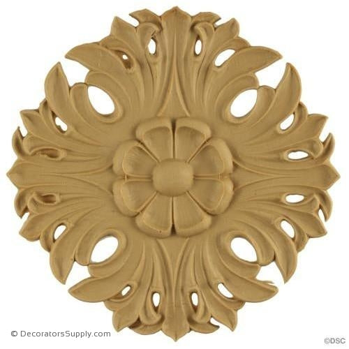Rosette - Circle-Romanesque - 6 1/4Diameter - 5/8Relief-woodwork-furniture-ornaments-Decorators Supply