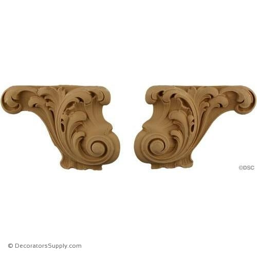 Acanthus Furniture Foot - 4 1/2 High 7 Wide-ornaments-furniture-woodwork-Decorators Supply