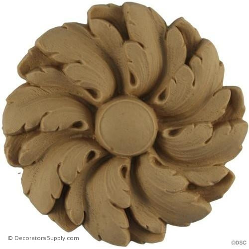 Rosette - Circle-Louis XVI - 3Diameter - 7/16Relief-woodwork-furniture-ornaments-Decorators Supply