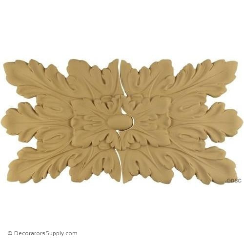 Rosette - Rectangular-Louis XVI 15 3/4H X 7 3/4W - 3/8Reli-ornaments-for-woodwork-furniture-Decorators Supply