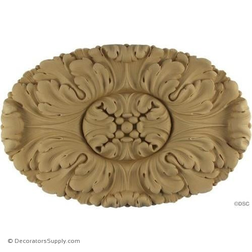 Rosette - Oval-Louis XVI 11  5/8H X 7  5/8W - 11/16Relief