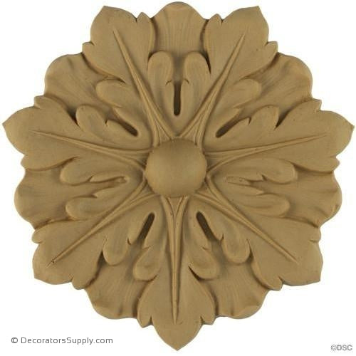 Rosette - Circle-Louis XVI - 5 7/8Diameter - 1/4Relief-woodwork-furniture-ornaments-Decorators Supply