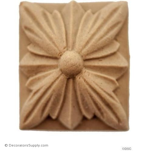 Rosette Rectangle-ornaments-for-woodwork-furniture-Decorators Supply