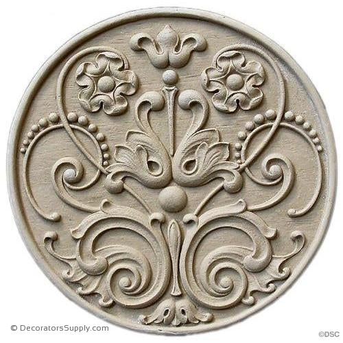 Rosette - Circle 6 3/8 Diameter-woodwork-furniture-ornaments-Decorators Supply