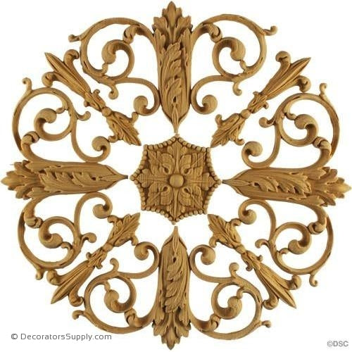 Empire Rosette-woodwork-furniture-ornaments-Decorators Supply