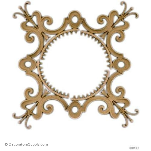 Specialty-Elizabethan 12 1/2H X 12 1/2W - 1/4Relief-woodwork-furniture-ornaments-Decorators Supply