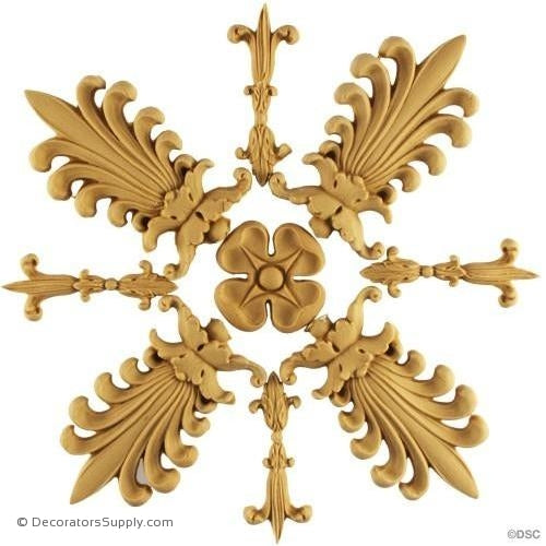 Specialty-Empire 7 1/4H X 7 1/4W - 5/8Relief-ornaments-for-woodwork-furniture-Decorators Supply
