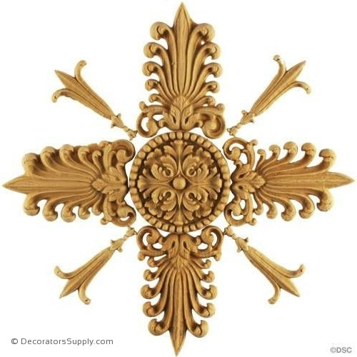 Specialty-Empire 7 3/4H X 7 3/4W - 1/4Relief-woodwork-furniture-ornaments-Decorators Supply
