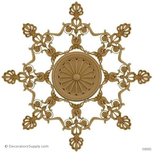Specialty-Empire - 19 1/4Diameter - 3/8Relief-woodwork-furniture-ornaments-Decorators Supply