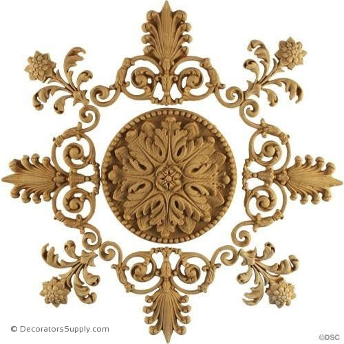 Specialty-Empire 11 3/4H X 11 3/4W - 3/8Relief-woodwork-furniture-ornaments-Decorators Supply