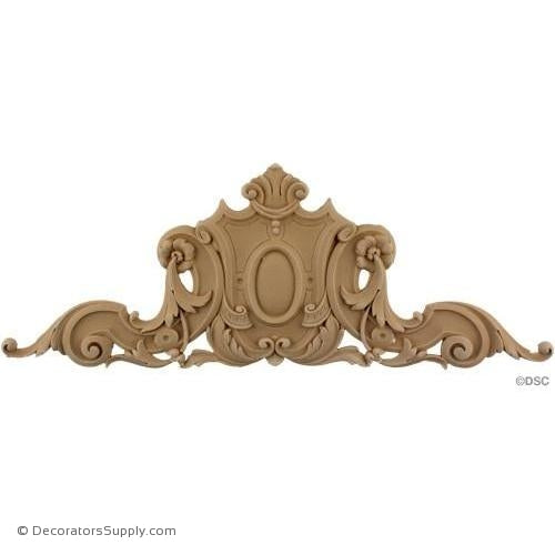 Cartouche 6 1/2 High 17 3/4 Wide-appliques-for-woodwork-furniture-Decorators Supply