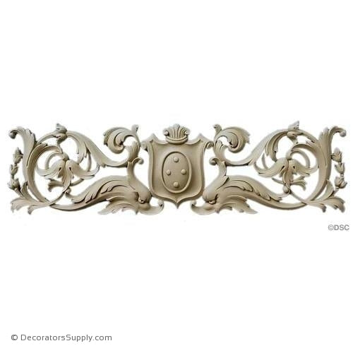 Shield Flanked by Sea Creatures 15 1/4 Wide x 4 1/4 High-furniture-woodwork-ornaments-Decorators Supply