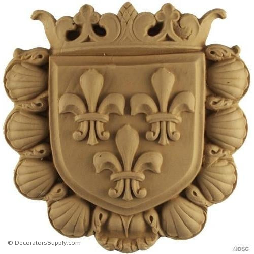 Shield-Heraldic 6H X 6W - 5/8Relief - Decorators Supply