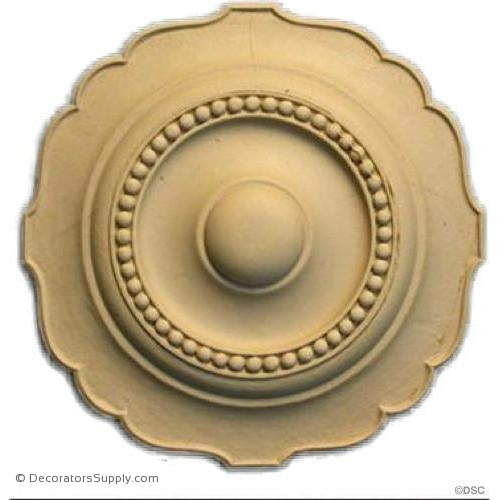 "Rosette - Circle - 5 3/4"" Diameter-woodwork-furniture-ornaments-Decorators Supply"