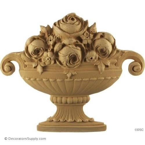 Basket-Italian 9H X 11 3/4W - 13/16Relief-ornaments-for-furniture-woodwork-Decorators Supply