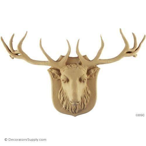 Animal-Elk 9 3/4H X 15 1/4W - 2 1/2Relief-Decorators Supply
