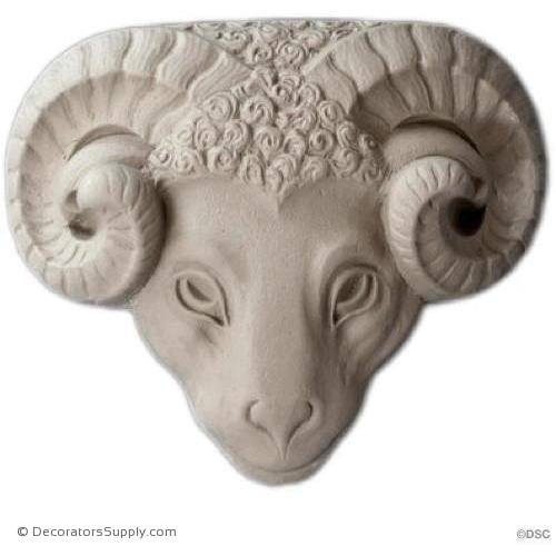 Animal-Ram 5 3/4H X 7 1/4W - 2Relief-Decorators Supply