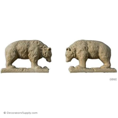 Animal-Bears 3 1/4H X 4 7/8W - 1 1/8Relief-Decorators Supply