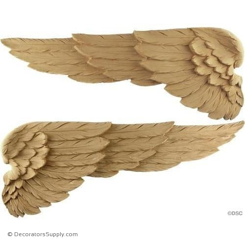 Wing - Each Wing - 7 1/8H X 18W - 3/8Relief-Decorators Supply