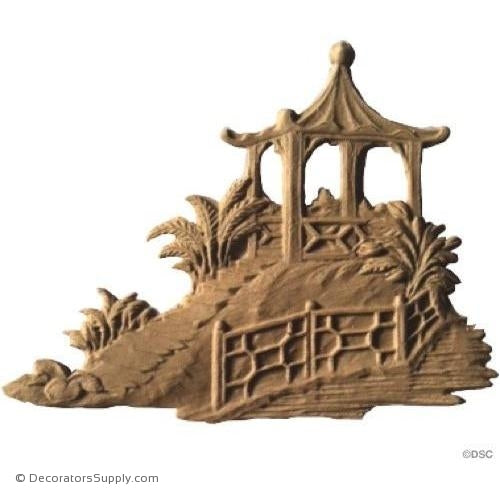 Pagoda - Oriental - 4 High 5 1/2 Wide-historic-carving-library-victorian-styles-Decorators Supply