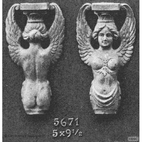Angels - Empire 9 1/2H X 5W - 1 1/4Relief-historic-carving-library-victorian-styles-Decorators Supply