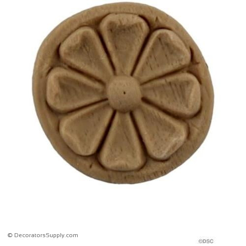 Rosette - Circle 1 Diameter-woodwork-furniture-ornaments-Decorators Supply