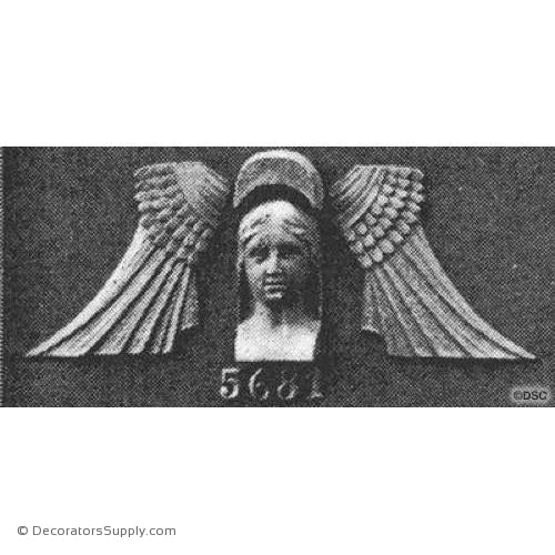 Face-Egyptian - 1 1/8Relief-historic-carving-library-victorian-styles-Decorators Supply