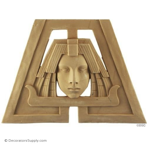 Face-Egyptian 8 3/8H X 11 3/4W - 3/8Relief-historic-carving-library-victorian-styles-Decorators Supply