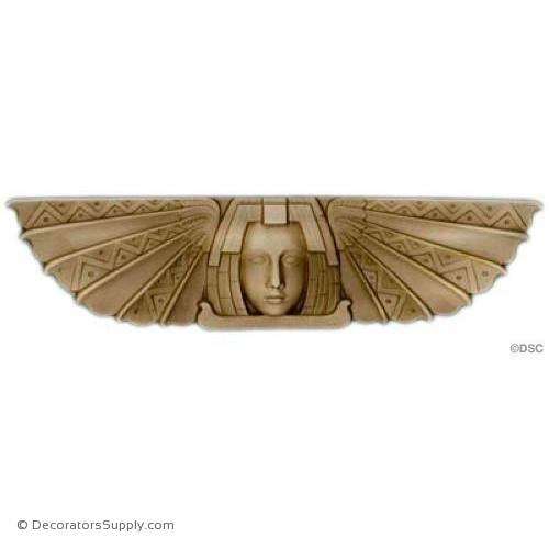 Face-Egyptian 2 7/8H X 12W - 5/16Relief-historic-carving-library-victorian-styles-Decorators Supply