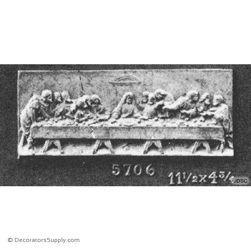 Last Supper Scene - 4 3/4H X 11 1/2W - 1/2Relief-historic-carving-library-victorian-styles-Decorators Supply