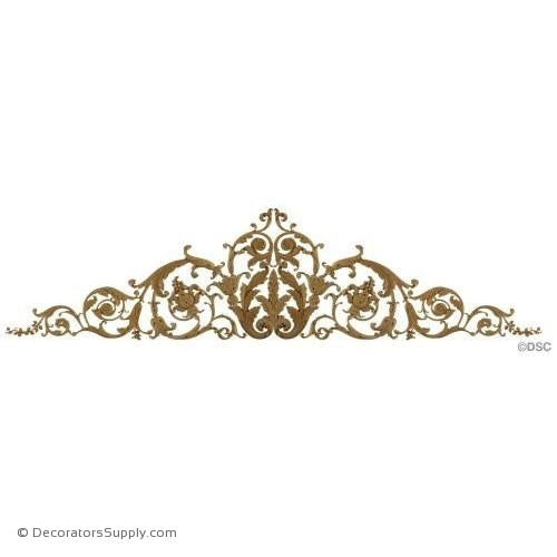 "Scroll Design-Mod. Ren. 107 1/2""W X 27"" H - 3/4"" Relief-ornaments-for-woodwork-furniture-Decorators Supply"