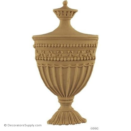 Urn-Colonial 6 1/2H X 3 1/2W - 1/2Relief-ornaments-for-furniture-woodwork-Decorators Supply