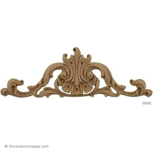 Cartouche 3 High 8 5/8 Wide-appliques-for-woodwork-furniture-Decorators Supply
