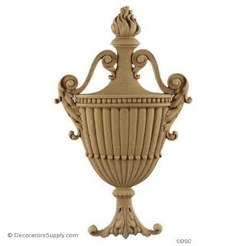 Urn-Colonial 12 1/4H X 7 1/4W - 11/16Relief-ornaments-for-furniture-woodwork-Decorators Supply