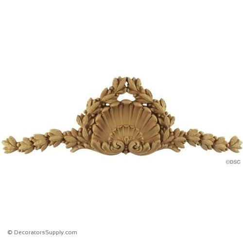 Shell-Louis XVI 5 3/4H X 17 3/8W - 7/8Relief-ornaments-for-woodwork-furniture-Decorators Supply