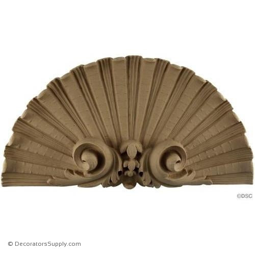 Shell-French Ren. 7 1/4H X 14W - 1 5/8Relief-ornaments-for-woodwork-furniture-Decorators Supply