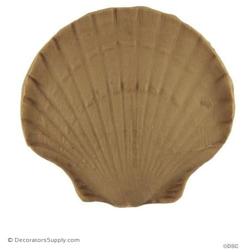Shell-Colonial 2 1/8H X 2 1/4W - 3/8Relief-ornaments-for-woodwork-furniture-Decorators Supply
