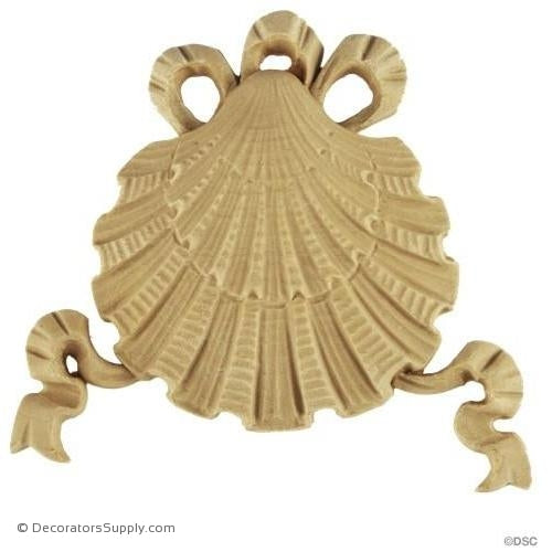 Shell-Colonial 4H X 4 5/8W - 3/8Relief-ornaments-for-woodwork-furniture-Decorators Supply