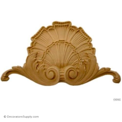 Shell-Colonial 4H X 7 1/4W - 3/4Relief-ornaments-for-woodwork-furniture-Decorators Supply