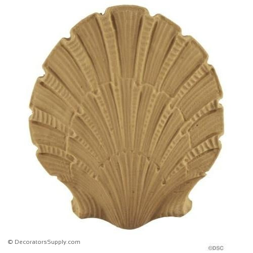 Shell-Colonial 3 3/4H X 3 3/8W - 3/8Relief-ornaments-for-woodwork-furniture-Decorators Supply