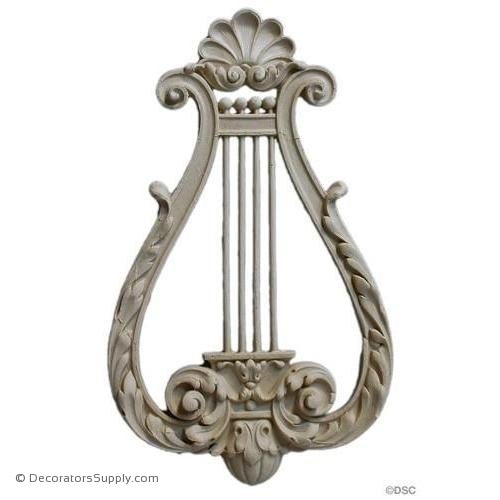 Musical Instrument-Louis XVI 11  5/8H X 7  1/4W - 3/4Relief